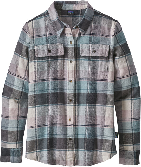 Patagonia W's Fjord Flannel Longsleeve Shirt Spectra: Cadet Blå